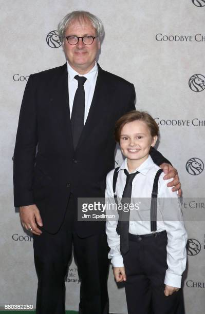 Director Simon Curtis and actor Will Tilston attend the 'Good Bye Christopher Robin' New York special screening at The New York Public Library on...