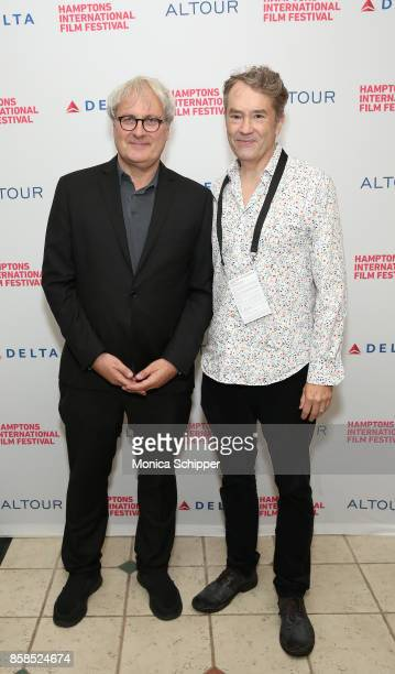 Director Simon Curtis and composer Carter Burwell attends the photo call for 'GoodBye Chrisopher Robin' during Hamptons International Film Festival...