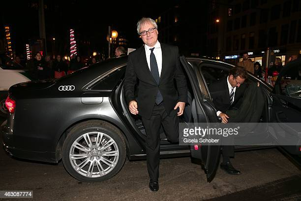 Director Simon Curtis arrives for the 'Woman in Gold' premiere during the 65th Berlinale International Film Festival at Friedrichstadtpalast on...