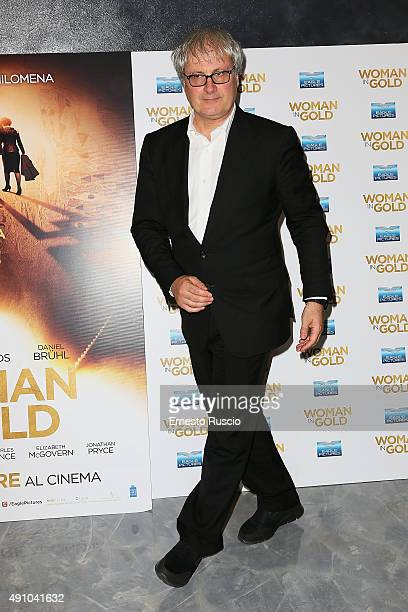 Director Simon Curtis attends the 'Woman In Gold' premiere at Sala Giulio Cesare In Rome on October 2 2015 in Rome Italy
