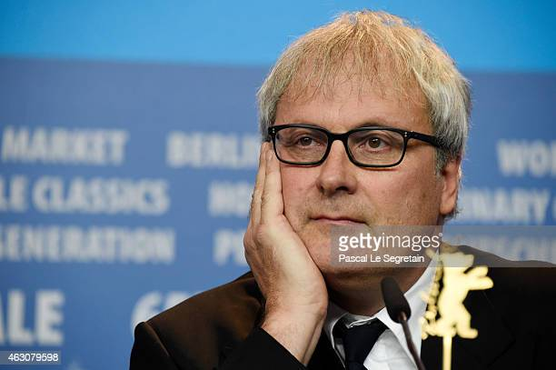 Director Simon Curtis attends the 'Woman in Gold' press conference during the 65th Berlinale International Film Festival at Grand Hyatt Hotel on...