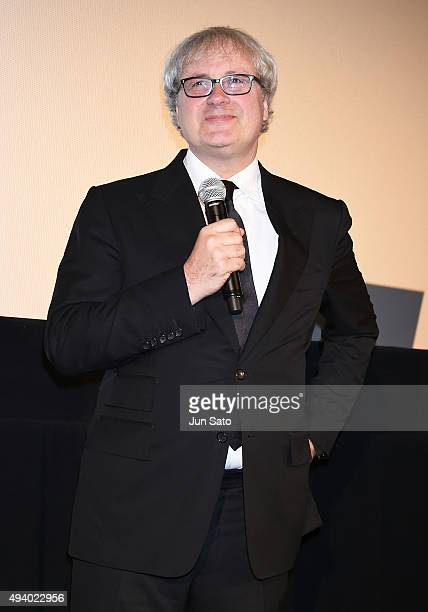 Director Simon Curtis attends the 'Woman in Gold' stage greeting during the Tokyo International Film Festival 2015 at Roppongi Hills on October 24...