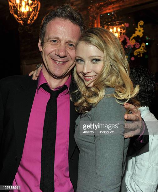 Director Simon Wells and actress Elisabeth Harnois attend the premiere of Walt Disney Pictures' 'Mars Needs Moms' after party held at The Highlands...