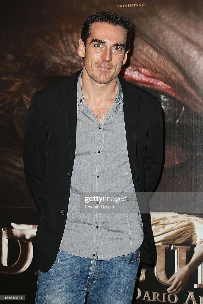 Director Simone Gandolfo attends the 'Dracula in 3D' premiere at Cinema Barberini on November 21, 2012 in Rome, Italy.