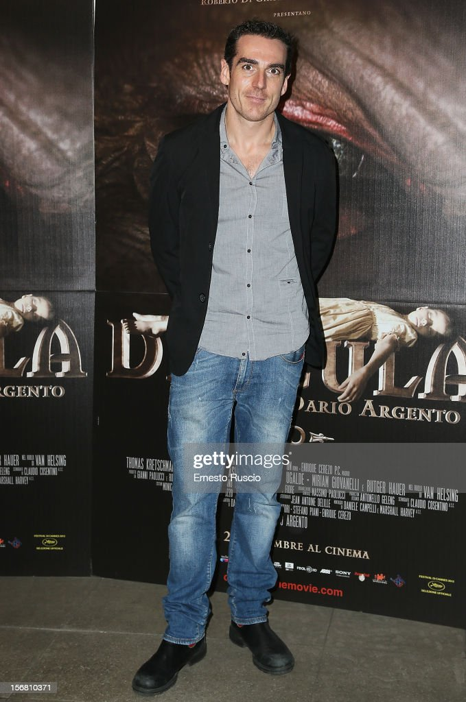 Director Simone Gandolfo attends the 'Dracula in 3D' premiere at Cinema Barberini on November 21, 2012 in Rome, Italy.