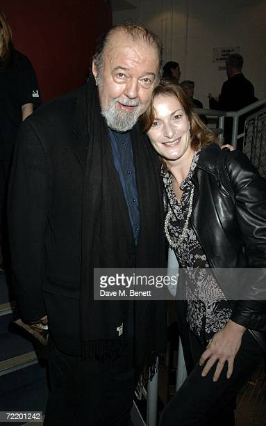 Director Sir Peter Hall and wife Lady Hall attend the press night of The Cryptogram at the Donmar Warehouse October 17 2006 in London England