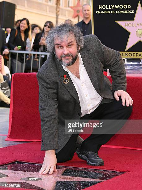 Director Sir Peter Jackson attends a ceremony honoring him with the 2538th Star on The Hollywood Walk of Fame on December 8 2014 in Hollywood...