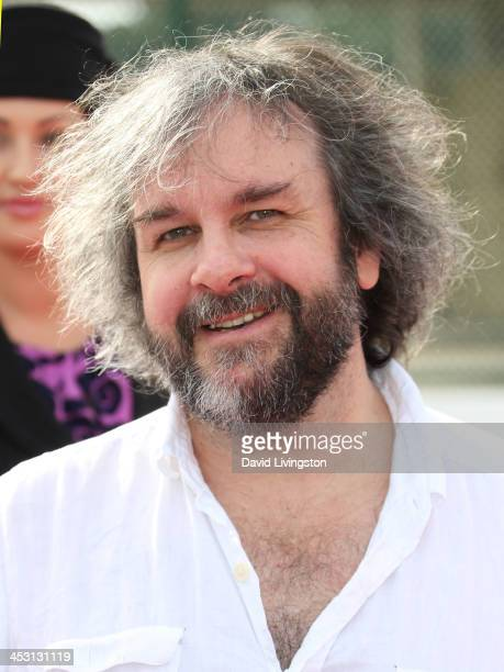 Director Sir Peter Jackson attends a Meet and Greet with cast members of 'The Hobbit The Desolation of Smaug' at the LAX Flight Path Museum on...