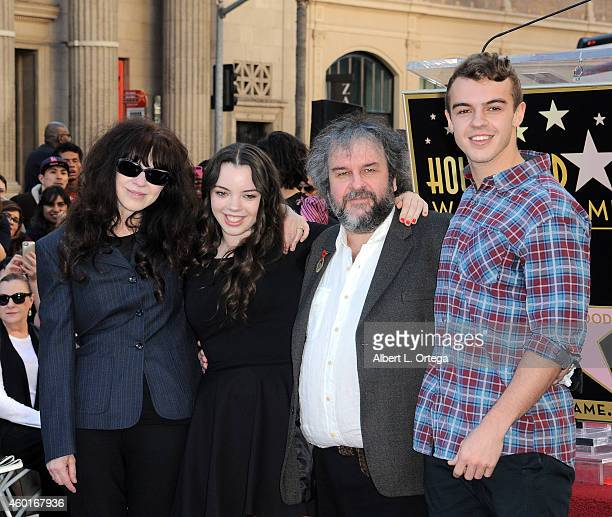 Director Sir Peter Jackson with family Fran Walsh Katie and Billy at The Hollywood Walk Of Fame Ceremony for Sir Peter Jackson held on December 8...