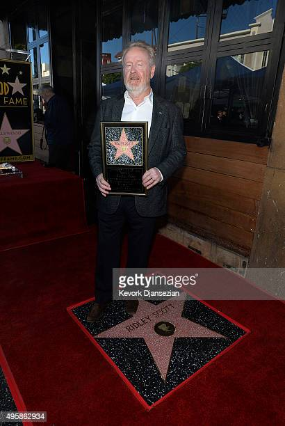 Director Sir Ridley Scott is honored with a Hollywood Walk of Fame Star November 5 in Hollywood California