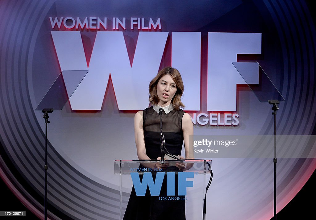 Director <a gi-track='captionPersonalityLinkClicked' href=/galleries/search?phrase=Sofia+Coppola&family=editorial&specificpeople=202230 ng-click='$event.stopPropagation()'>Sofia Coppola</a> accepts the Dorothy Arzner Directors Award onstage during Women In Film's 2013 Crystal + Lucy Awards at The Beverly Hilton Hotel on June 12, 2013 in Beverly Hills, California.