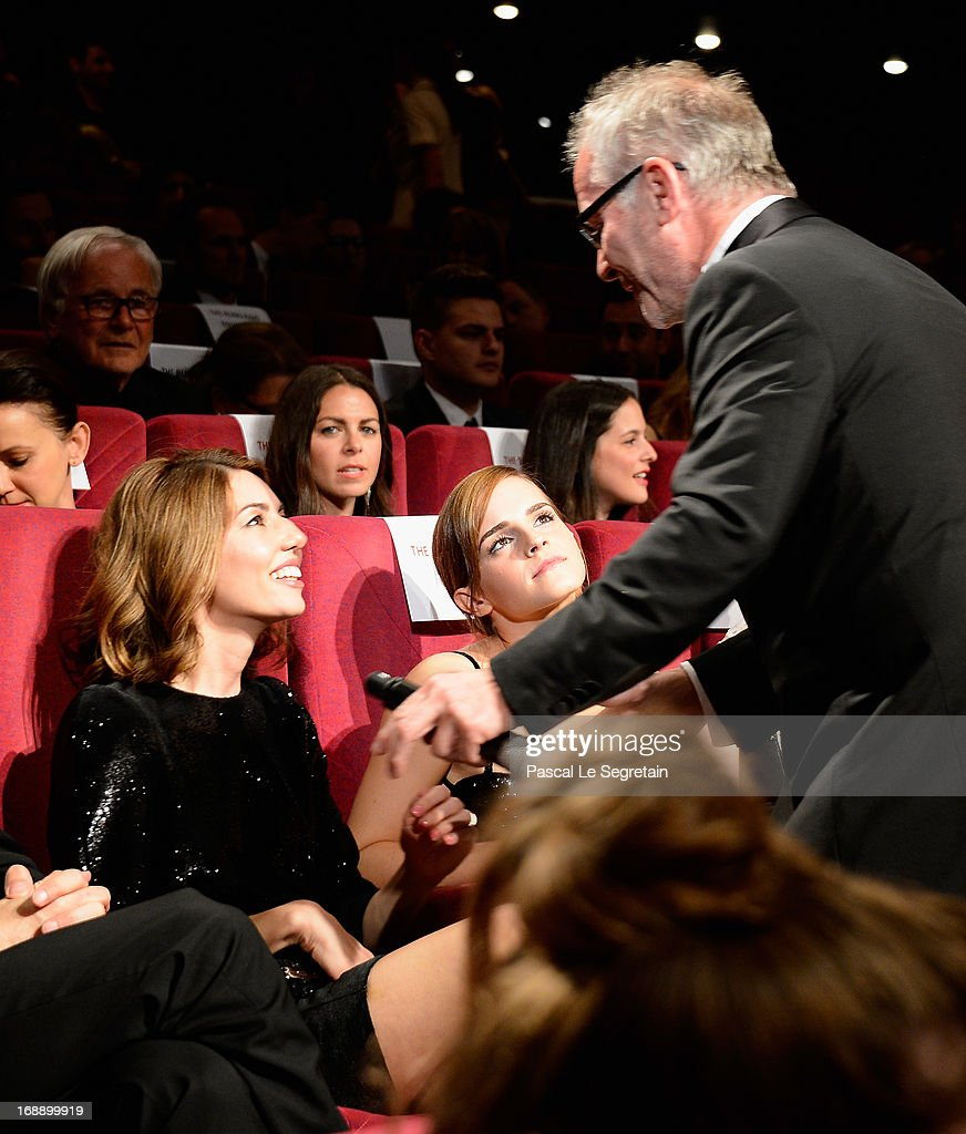 Director Sofia Coppola, actress Emma Watson and Cannes Film Festival artistic director Thierry Fremaux attend 'The Bling Ring' premiere during The 66th Annual Cannes Film Festival at the Palais des Festivals on May 16, 2013 in Cannes, France.