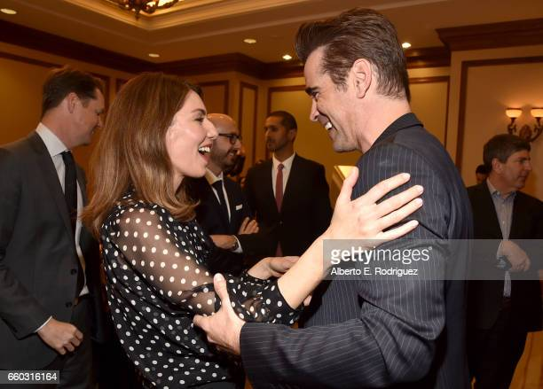 Director Sofia Coppola and actor Colin Farrell at CinemaCon 2017 Focus Features Celebrating 15 Years and a Bright Future at Caesars Palace during...