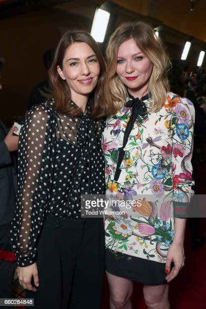 Director Sofia Coppola and actor Kirsten Dunst at CinemaCon 2017 Focus Features Celebrating 15 Years and a Bright Future at Caesars Palace during...