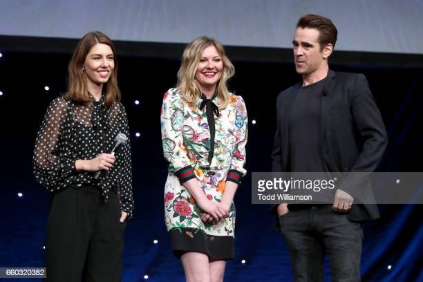 Director Sofia Coppola and actors Kirsten Dunst and Colin Farrell speak onstage at CinemaCon 2017 Focus Features Celebrating 15 Years and a Bright...