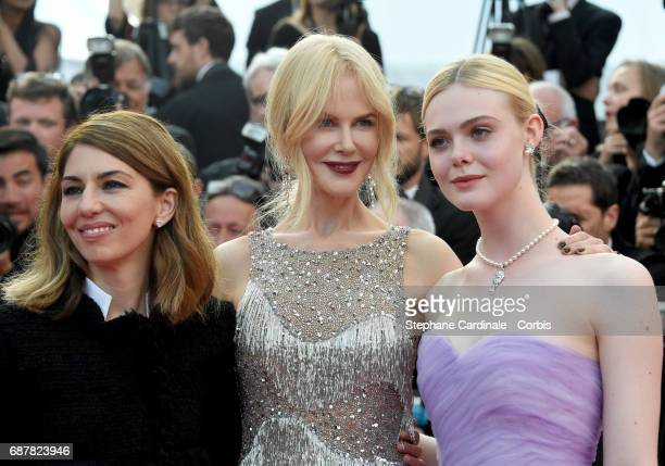Director Sofia Coppola and actors Nicole Kidman and Elle Fanning attend 'The Beguiled' premiere during the 70th annual Cannes Film Festival at Palais...