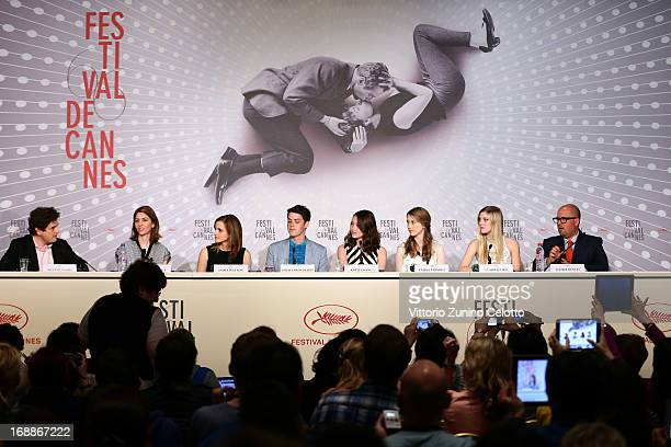 Director Sofia Coppola and actress Emma Watson actor Israel Broussard actresses Katie Chang Taïssa Fariga Claire Julien and producer Youree Henley...