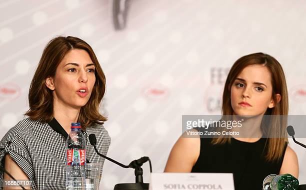 Director Sofia Coppola and actress Emma Watson attend 'The Bling Ring' press conference during the 66th Annual Cannes Film Festival at Palais des...