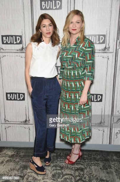 Director Sofia Coppola and actress Kirsten Dunst attend the Build Series to discuss the film 'The Beguiled' at Build Studio on June 21 2017 in New...