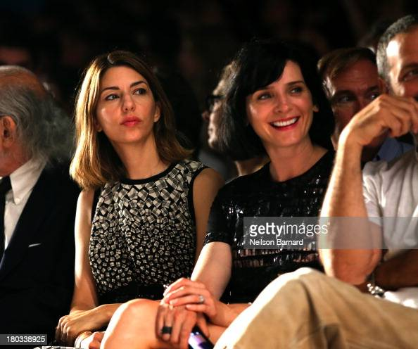 Director Sofia Coppola and actress Michele Hicks attend the Anna Sui fashion show during MercedesBenz Fashion Week Spring 2014 at The Theatre at...