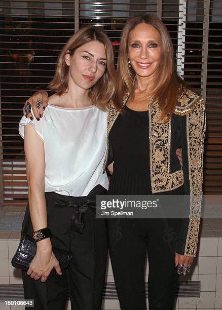 Director Sofia Coppola and actress/model Marisa Berenson attend 'M·A·C Antonio' Collection Launch Event at The Odeon on September 8 2013 in New York...