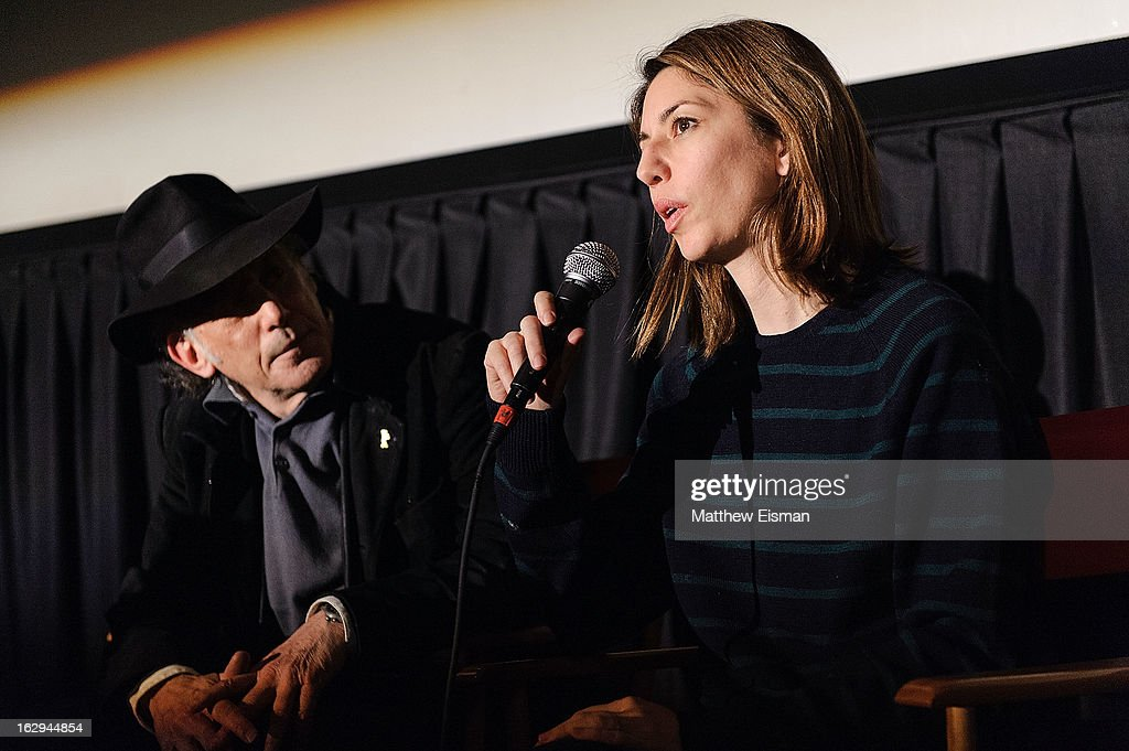 Director <a gi-track='captionPersonalityLinkClicked' href=/galleries/search?phrase=Sofia+Coppola&family=editorial&specificpeople=202230 ng-click='$event.stopPropagation()'>Sofia Coppola</a> (R) and cinematographer Ed Lachman attend the 'The Virgin Suicides' as part of the First Exposure Series during the 2013 First Time Fest at AMC Loews Village 7 on March 1, 2013 in New York City.