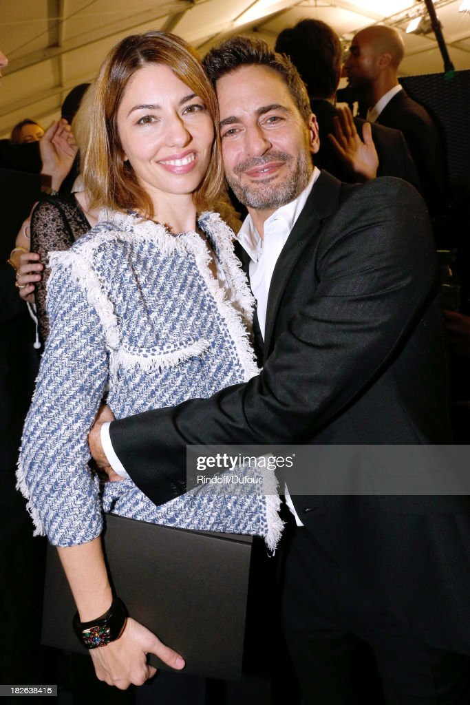 Director Sofia Coppola and Fashion Designer of Louis Vuitton Marc Jacobs backstage after the Louis Vuitton show as part of the Paris Fashion Week Womenswear Spring/Summer 2014, held at Le Carre du Louvre on October 2, 2013 in Paris, France.