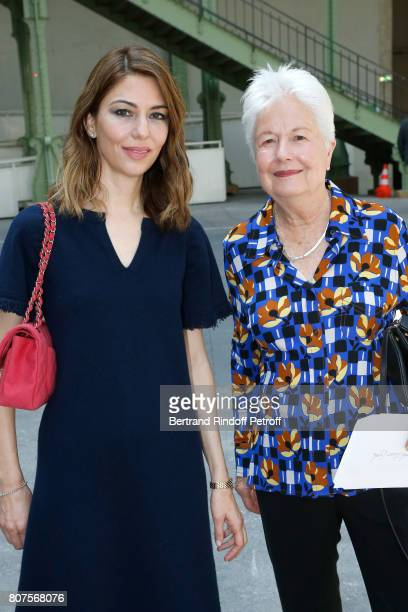Director Sofia Coppola and her mother Eleonore attend the Chanel Haute Couture Fall/Winter 20172018 show as part of Haute Couture Paris Fashion Week...
