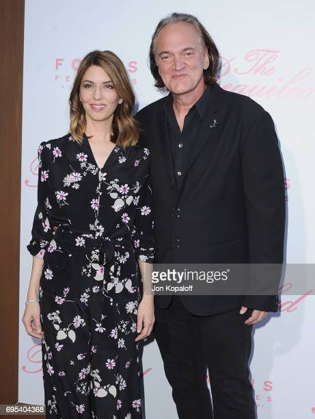 Director Sofia Coppola and Quentin Tarantino arrive at the US Premiere Of 'The Beguiled' at Directors Guild Of America on June 12 2017 in Los Angeles...