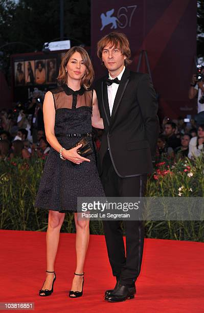 Director Sofia Coppola and Thomas Mars attends the 'Somewhere' premiere during the 67th Venice Film Festival at the Sala Grande Palazzo Del Cinema on...