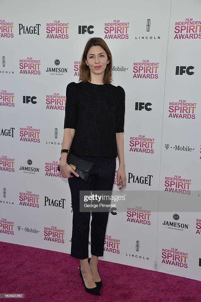 director Sofia Coppola arrives at the 2013 Film Independent Spirit Awards at Santa Monica Beach on February 23, 2013 in Santa Monica, California on February 23, 2013 in Santa Monica, California.