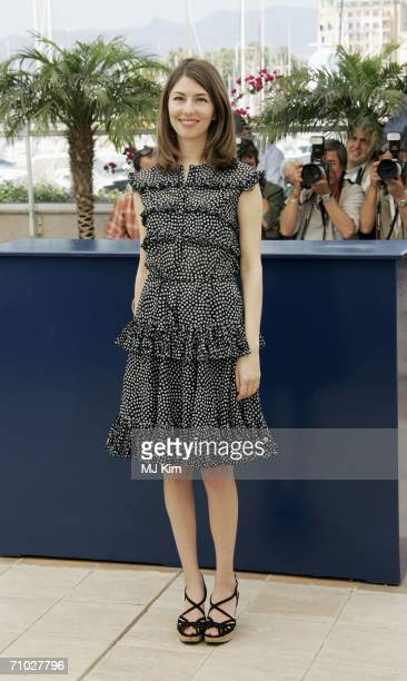 Director Sofia Coppola attends a photocall promoting the film 'Marie Antoinette' at the Palais des Festivals during the 59th International Cannes...