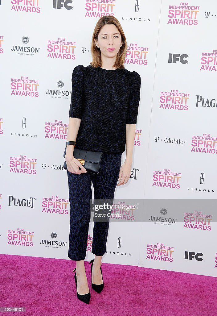 Director Sofia Coppola attends the 2013 Film Independent Spirit Awards at Santa Monica Beach on February 23, 2013 in Santa Monica, California.