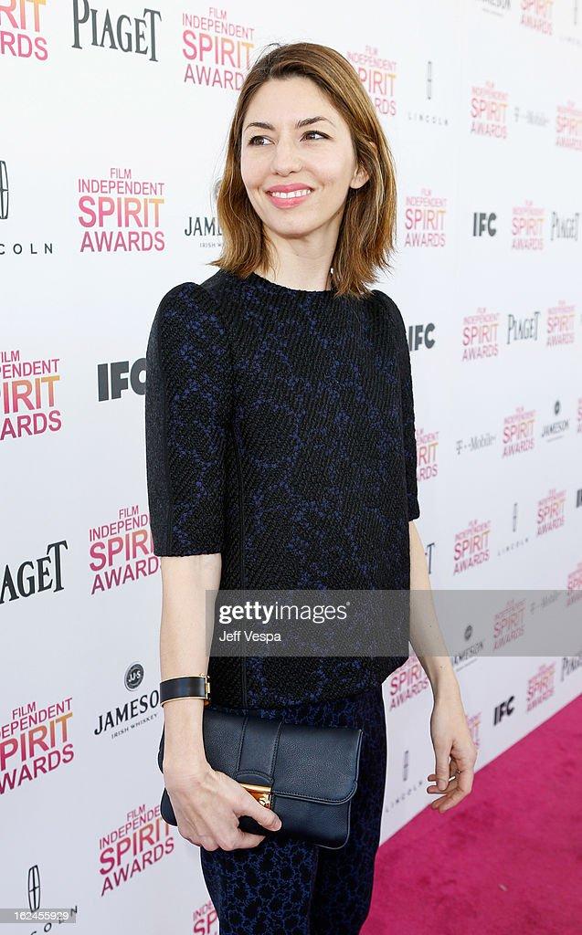 Director Sofia Coppola attends the 2013 Film Independent Spirit Awards at Santa Monica Beach on February 23, 2013 in Santa Monica, California.