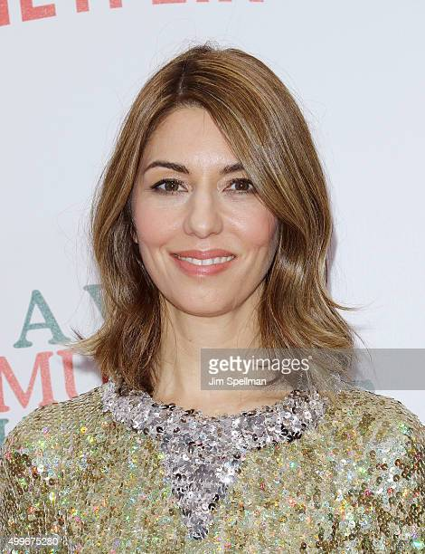 Director Sofia Coppola attends the 'A Very Murray Christmas' New York premiere at Paris Theater on December 2 2015 in New York City