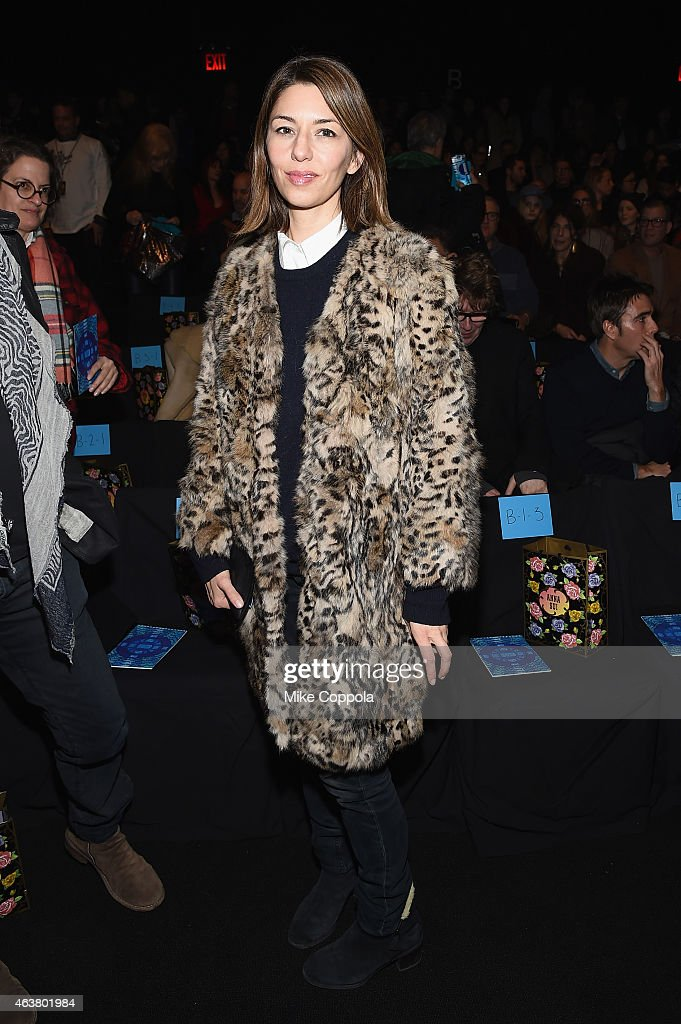 Director <a gi-track='captionPersonalityLinkClicked' href=/galleries/search?phrase=Sofia+Coppola&family=editorial&specificpeople=202230 ng-click='$event.stopPropagation()'>Sofia Coppola</a> attends the Anna Sui fashion show during Mercedes-Benz Fashion Week Fall 2015 at The Theatre at Lincoln Center on February 18, 2015 in New York City.