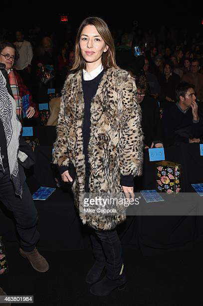 Director Sofia Coppola attends the Anna Sui fashion show during MercedesBenz Fashion Week Fall 2015 at The Theatre at Lincoln Center on February 18...
