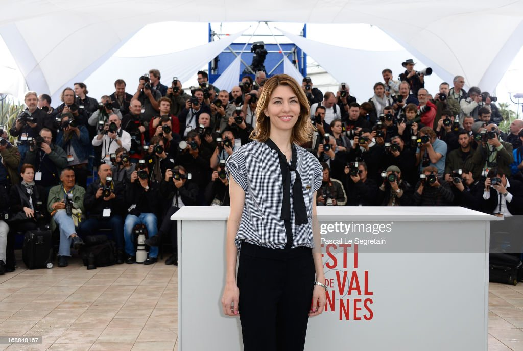 Director <a gi-track='captionPersonalityLinkClicked' href=/galleries/search?phrase=Sofia+Coppola&family=editorial&specificpeople=202230 ng-click='$event.stopPropagation()'>Sofia Coppola</a> attends 'The Bling Ring' photocall during the 66th Annual Cannes Film Festival at Palais des Festival on May 16, 2013 in Cannes, France.