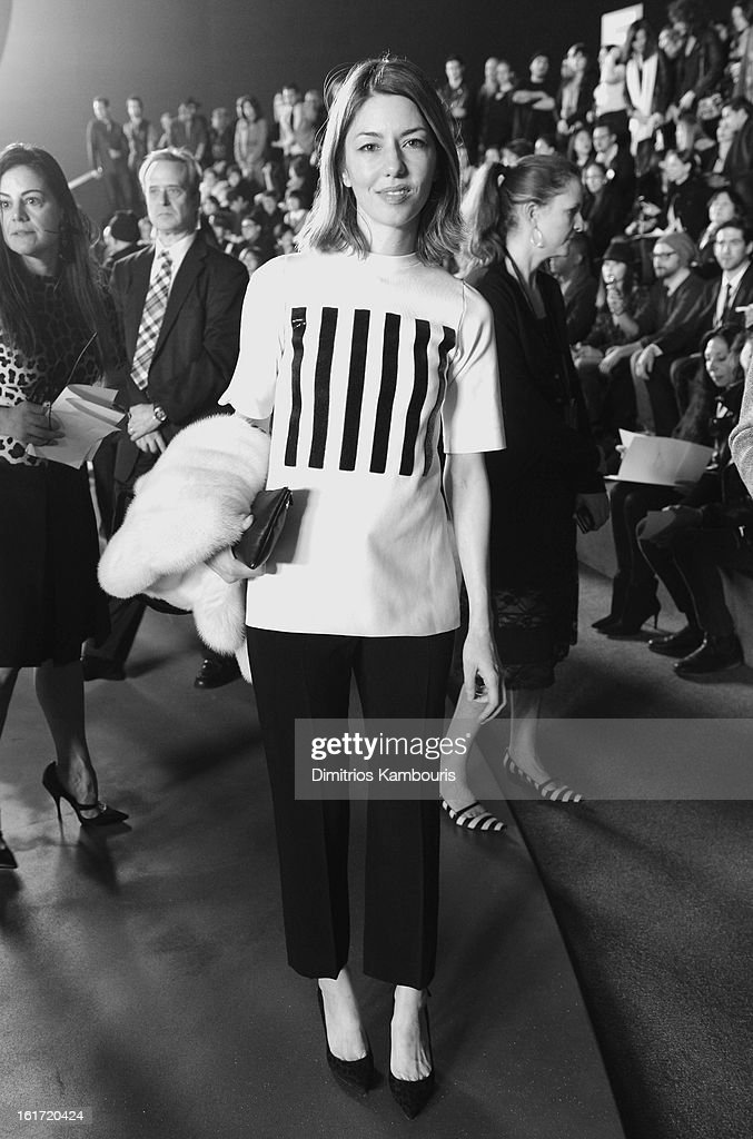 Director <a gi-track='captionPersonalityLinkClicked' href=/galleries/search?phrase=Sofia+Coppola&family=editorial&specificpeople=202230 ng-click='$event.stopPropagation()'>Sofia Coppola</a> attends the Marc Jacobs Collection Fall 2013 fashion show during Mercedes-Benz Fashion Week at New York Armory on February 14, 2013 in New York City.
