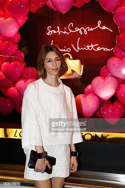 Director Sofia Coppola attends the New SC Bag Launch Celebration cocktail for Le Bon Marche and Louis Vuitton as part of the Paris Fashion Week...