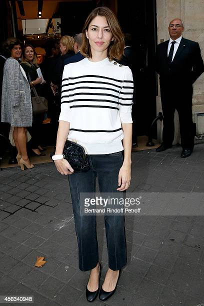 Director Sofia Coppola attends the Sonia Rykiel show as part of the Paris Fashion Week Womenswear Spring/Summer 2015 on September 29 2014 in Paris...