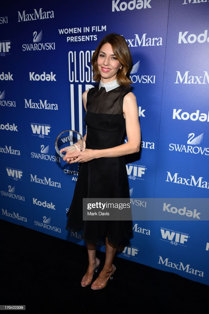Director <a gi-track='captionPersonalityLinkClicked' href=/galleries/search?phrase=Sofia+Coppola&family=editorial&specificpeople=202230 ng-click='$event.stopPropagation()'>Sofia Coppola</a> attends Women In Film's 2013 Crystal + Lucy Awards at The Beverly Hilton Hotel on June 12, 2013 in Beverly Hills, California.