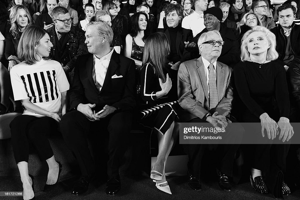 Director Sofia Coppola, CEO of Marc Jacobs Robert Duffy, Christina Ricci and Debbie Harry attend the Marc Jacobs Collection Fall 2013 fashion show during Mercedes-Benz Fashion Week at New York Armory on February 14, 2013 in New York City.