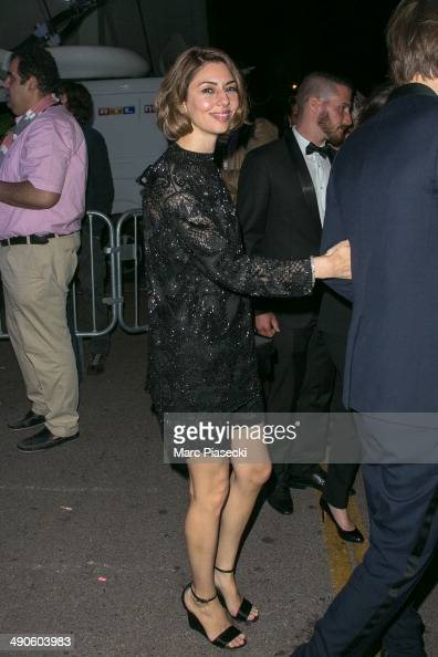 Director Sofia Coppola is seen leaving the 'Palais des Festivals' on day 1 of the 67th Annual Cannes Film Festival on May 14 2014 in Cannes France