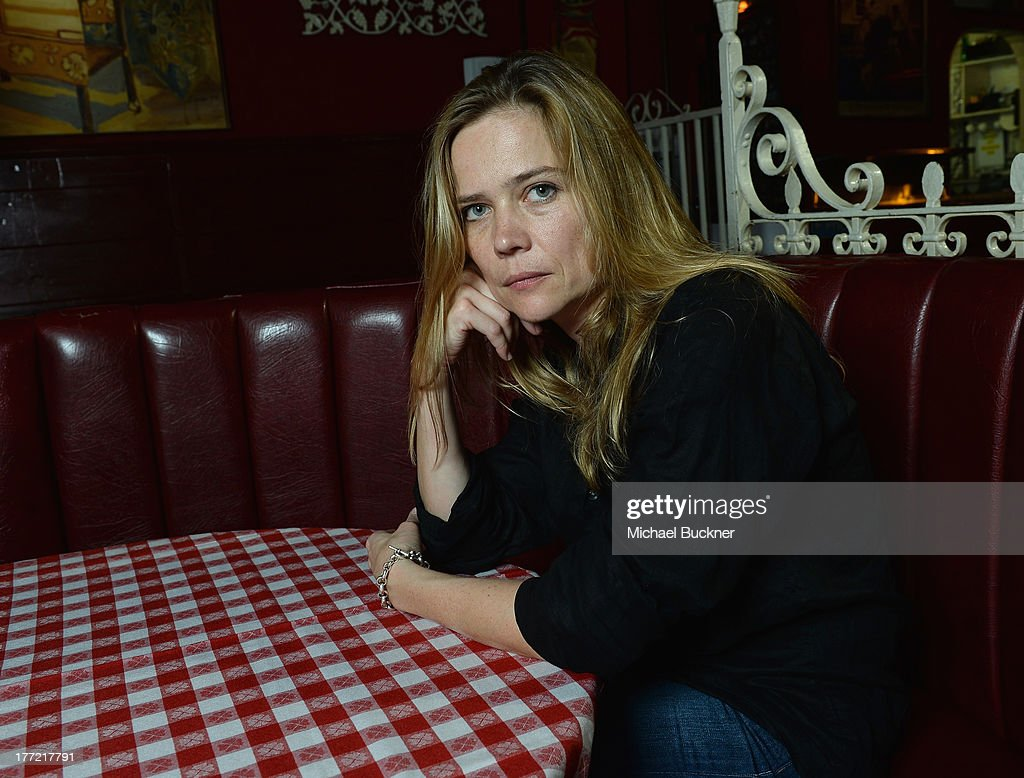 Director Sophie Huber poses for a portrait for the film 'Harry Dean Stanton: Partly Fiction' at Dan Tana's Restaurant on August 22, 2013 in West Hollywood, California.