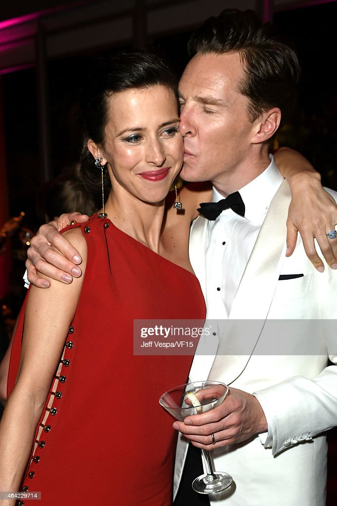 Director Sophie Hunter and actor Benedict Cumberbatch attend the 2015 Vanity Fair Oscar Party hosted by Graydon Carter at the Wallis Annenberg Center...