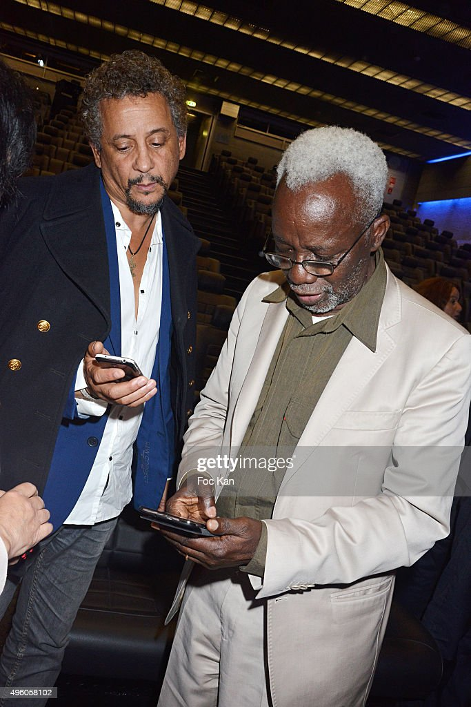 Director <a gi-track='captionPersonalityLinkClicked' href=/galleries/search?phrase=Souleymane+Cisse&family=editorial&specificpeople=606860 ng-click='$event.stopPropagation()'>Souleymane Cisse</a> (R) and actor <a gi-track='captionPersonalityLinkClicked' href=/galleries/search?phrase=Abel+Jafri&family=editorial&specificpeople=598715 ng-click='$event.stopPropagation()'>Abel Jafri</a>Êattend the 'Carthage Film Festival 2015' JCC Press Conference at Institut du Monde Arabe on November 6, 2015 in Paris, France.
