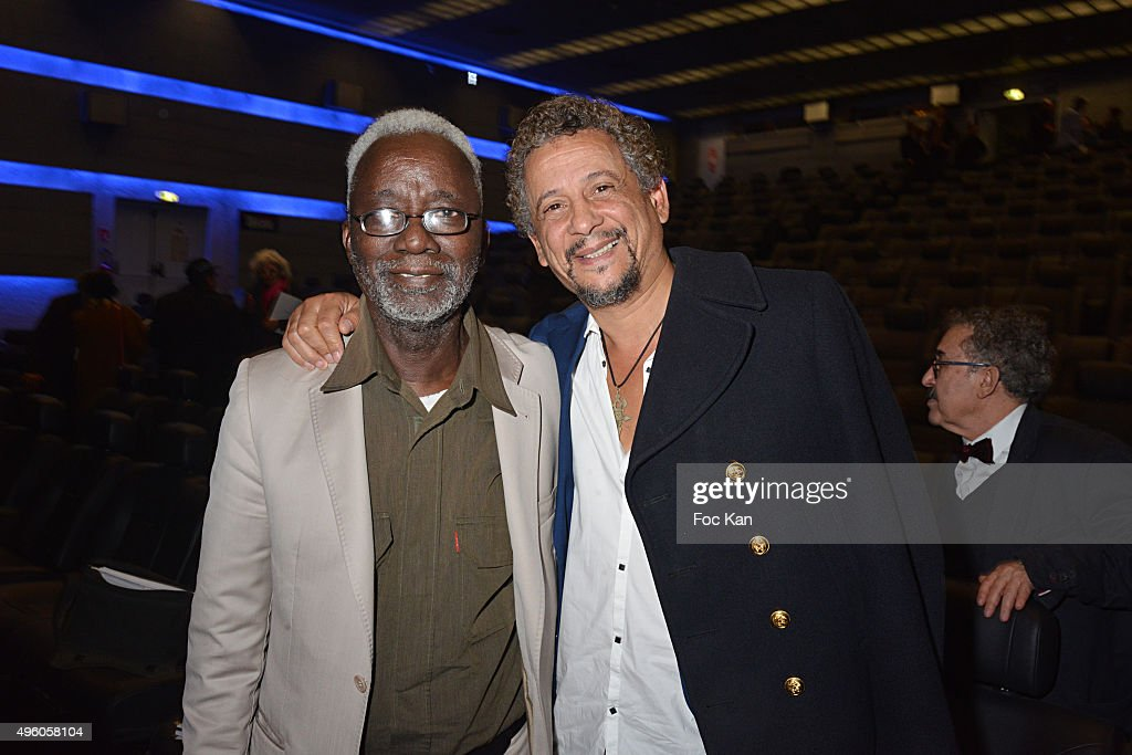 Director <a gi-track='captionPersonalityLinkClicked' href=/galleries/search?phrase=Souleymane+Cisse&family=editorial&specificpeople=606860 ng-click='$event.stopPropagation()'>Souleymane Cisse</a> and actor <a gi-track='captionPersonalityLinkClicked' href=/galleries/search?phrase=Abel+Jafri&family=editorial&specificpeople=598715 ng-click='$event.stopPropagation()'>Abel Jafri</a>Êattend the 'Carthage Film Festival 2015' JCC Press Conference at Institut du Monde Arabe on November 6, 2015 in Paris, France.