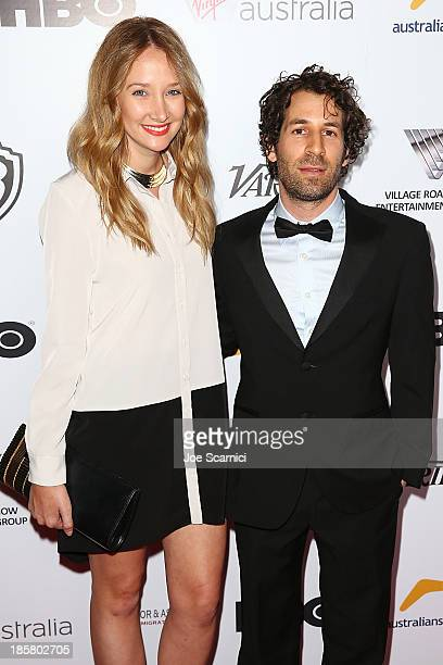 Director Spencer Susser and guest arrives at the Australians in film benefit dinner at InterContinental Hotel on October 24 2013 in Century City...