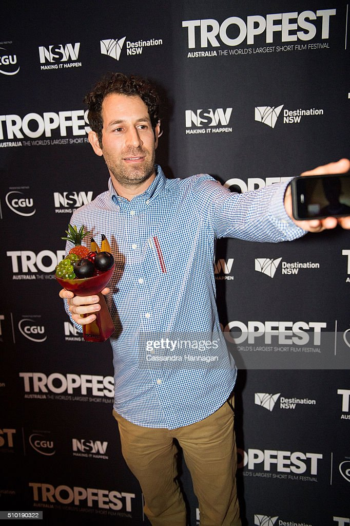 Director Spencer Susser, winner of Tropfest with his film 'Shiny', poses for photos during Tropfest 2016 at Centennial Park on February 14, 2016 in Sydney, Australia.